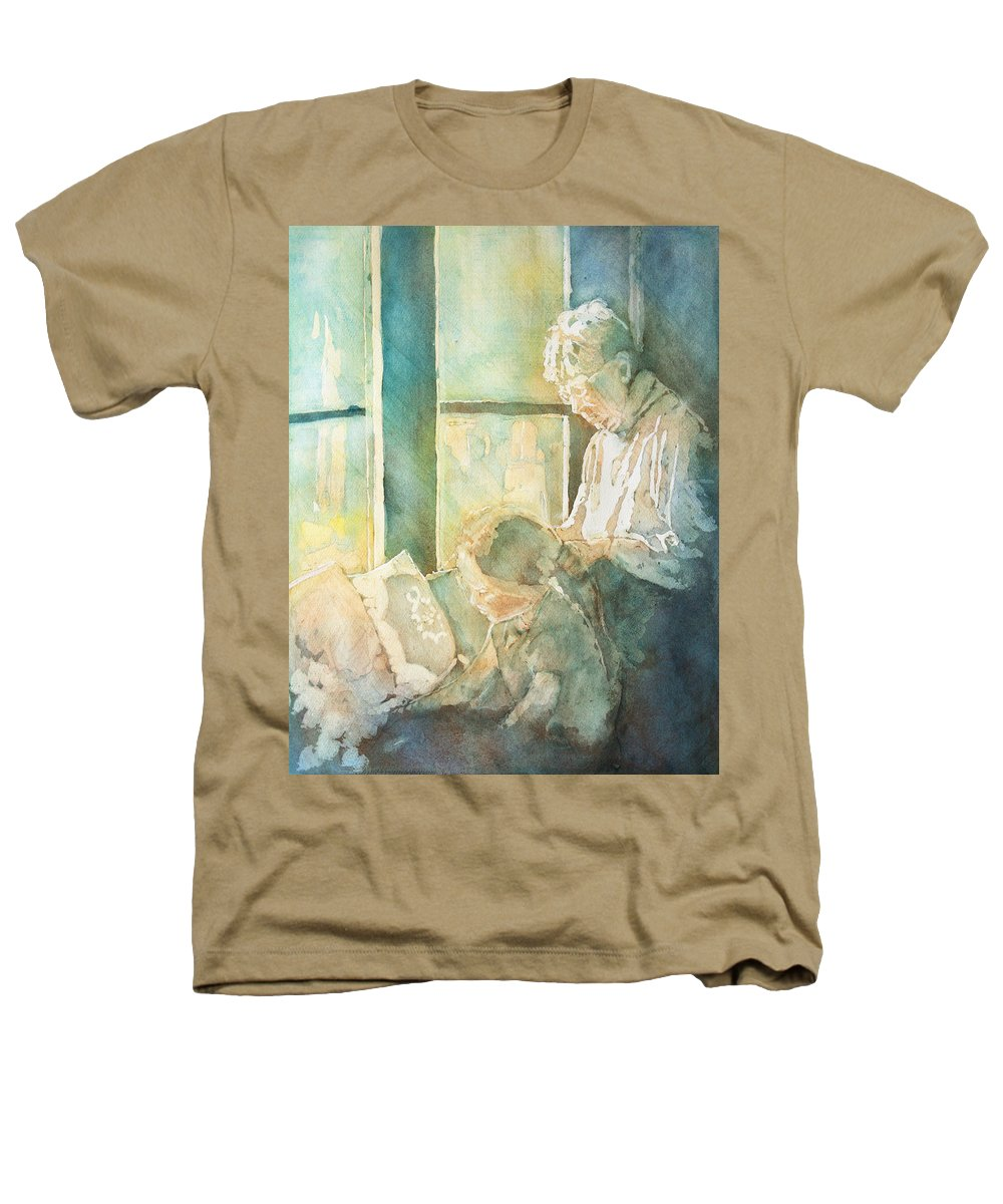 Family Heathers T-Shirt featuring the painting Gramdma Braids by Jenny Armitage
