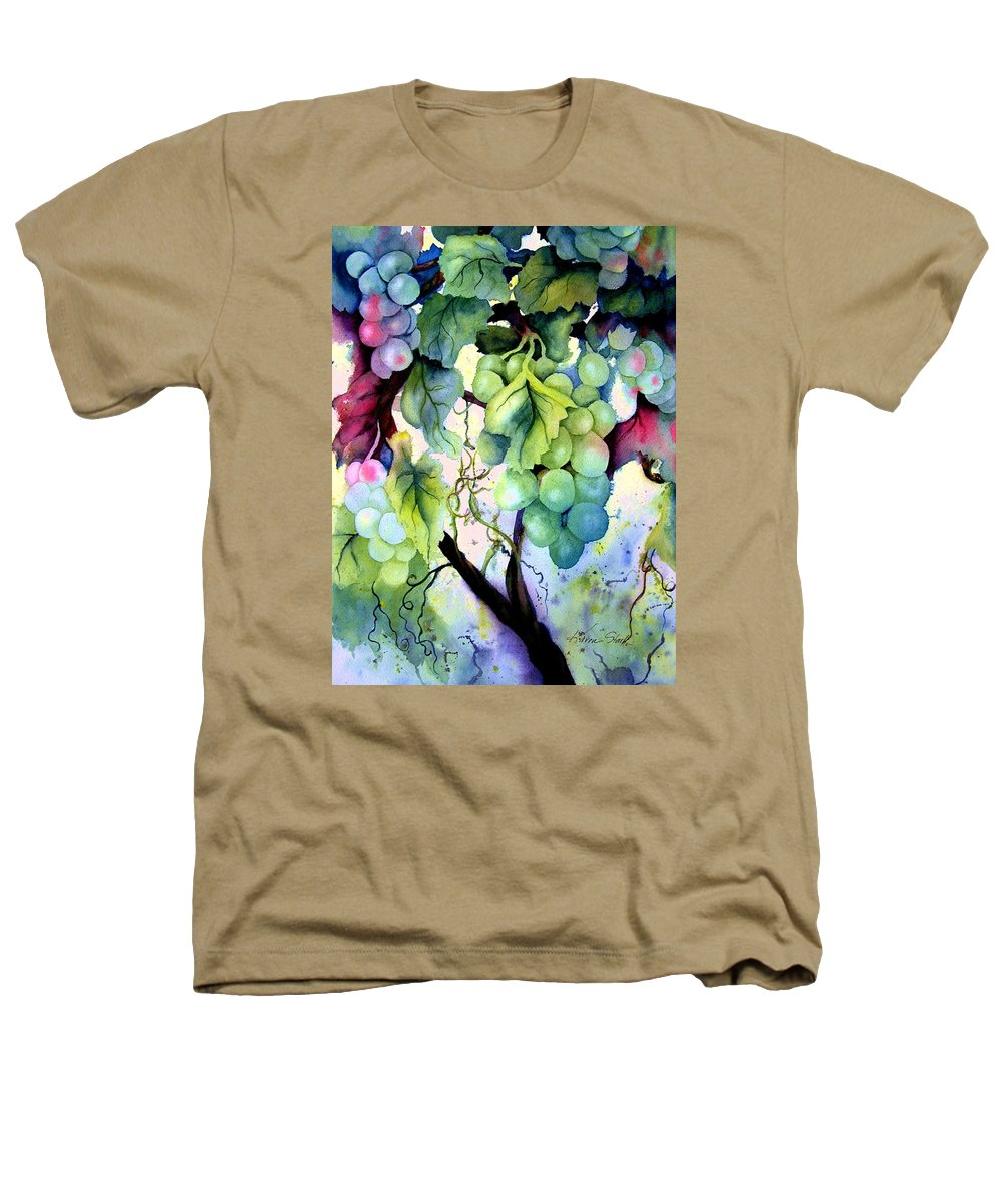 Grapes Heathers T-Shirt featuring the painting Grapes II by Karen Stark