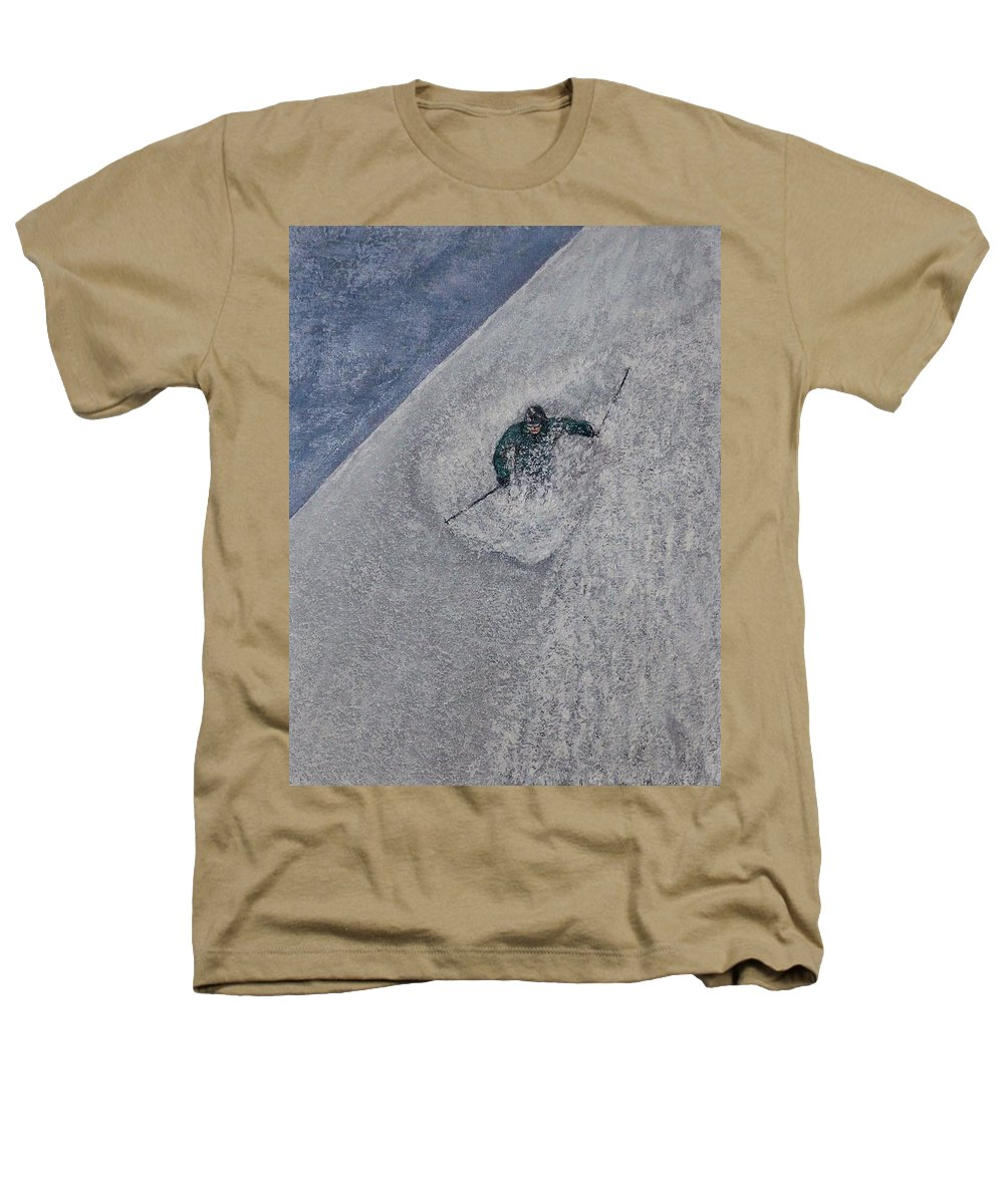 Ski Heathers T-Shirt featuring the painting Gravity by Michael Cuozzo