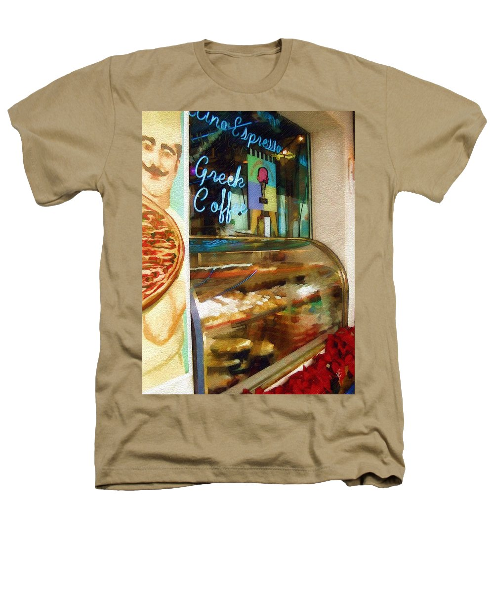 Greek Heathers T-Shirt featuring the photograph Greek Coffee by Sandy MacGowan