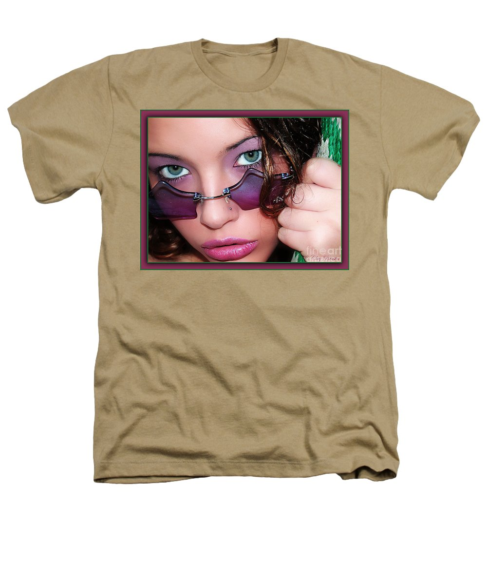 Clay Heathers T-Shirt featuring the photograph Green Eye'd Girl by Clayton Bruster