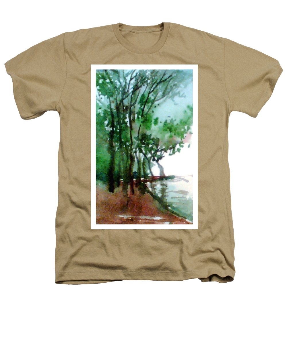 Water Color Heathers T-Shirt featuring the painting Greens by Anil Nene