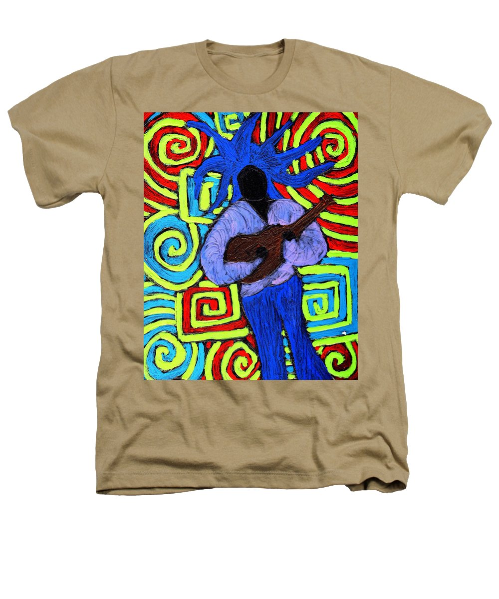 Music Heathers T-Shirt featuring the painting Guitar Solo by Wayne Potrafka