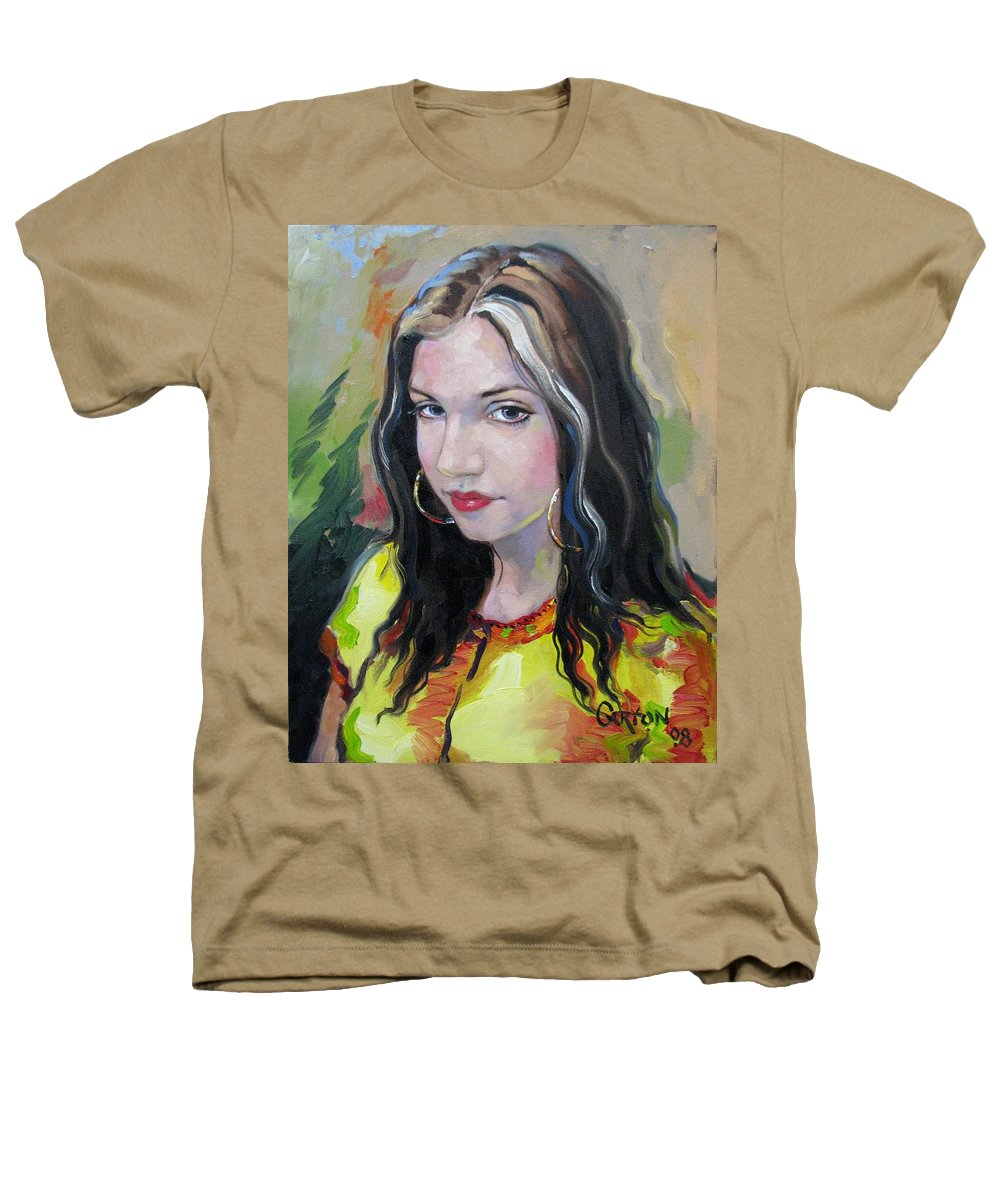 Gypsy Heathers T-Shirt featuring the painting Gypsy Girl by Jerrold Carton