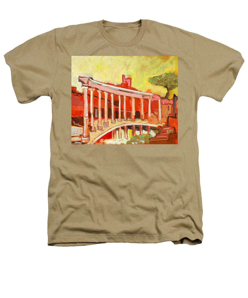 Villa Heathers T-Shirt featuring the painting Hadrian's Villa by Kurt Hausmann