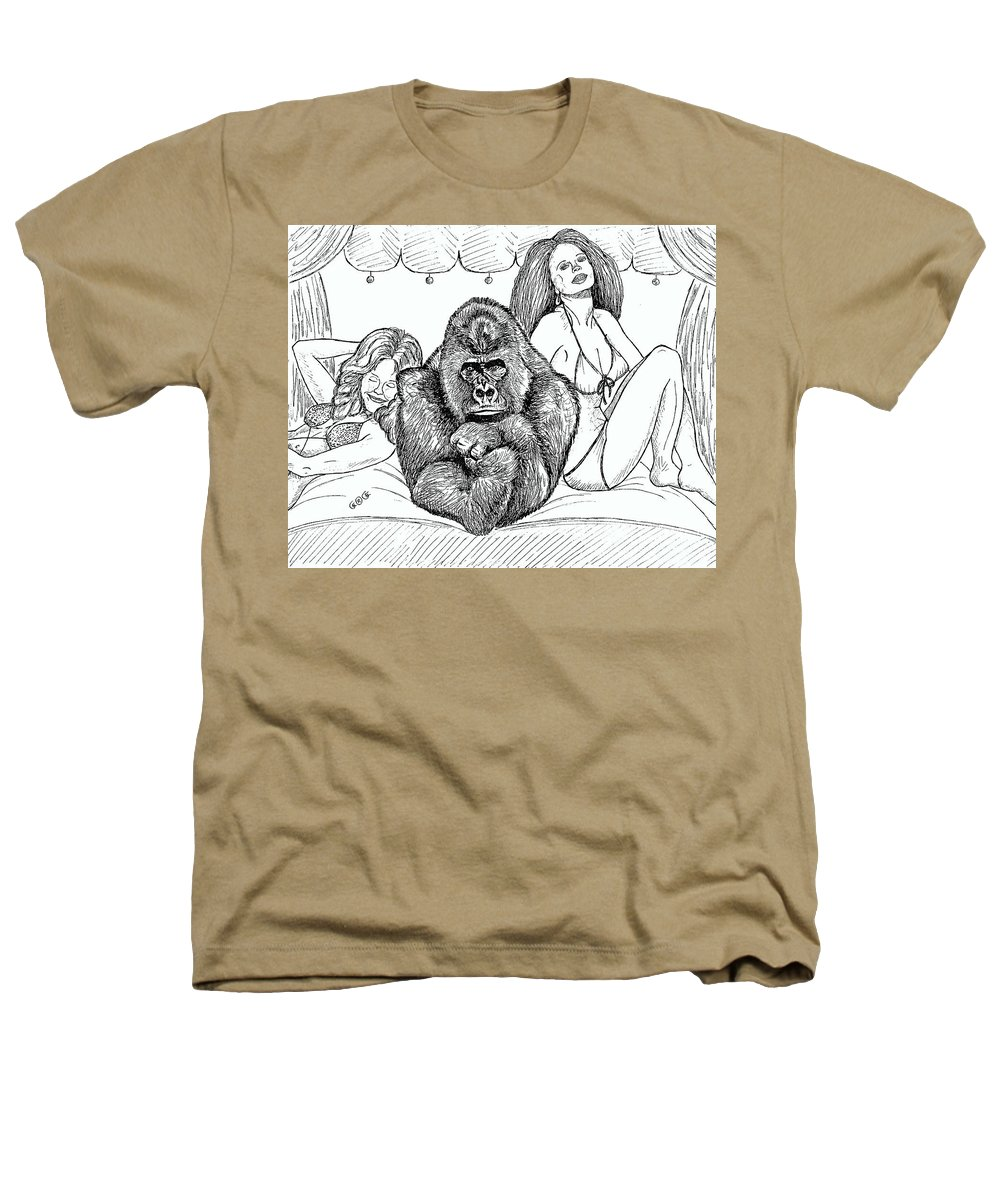 Drawings Heathers T-Shirt featuring the drawing Happy Hour by George I Perez