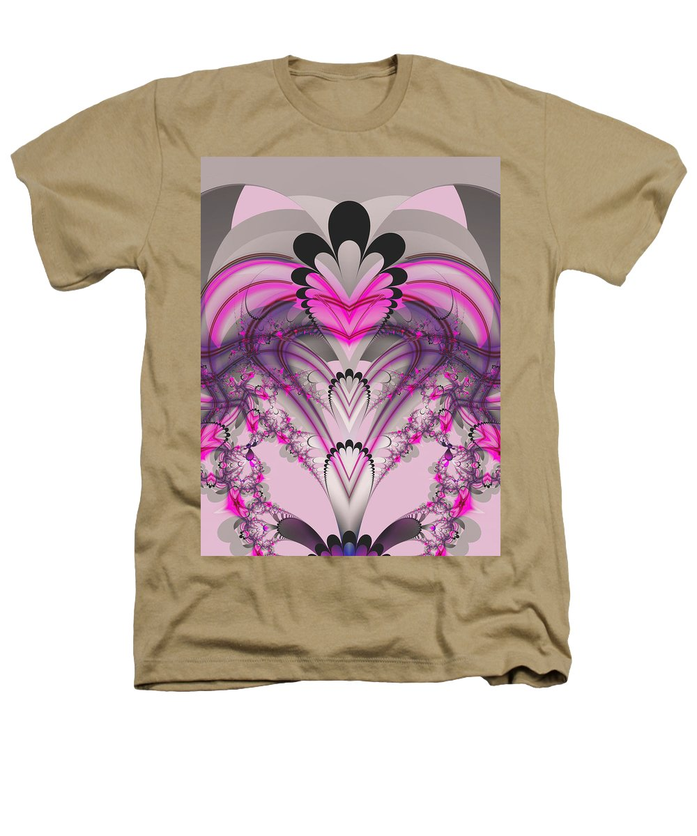 Fractal Heathers T-Shirt featuring the digital art Hearts by Frederic Durville