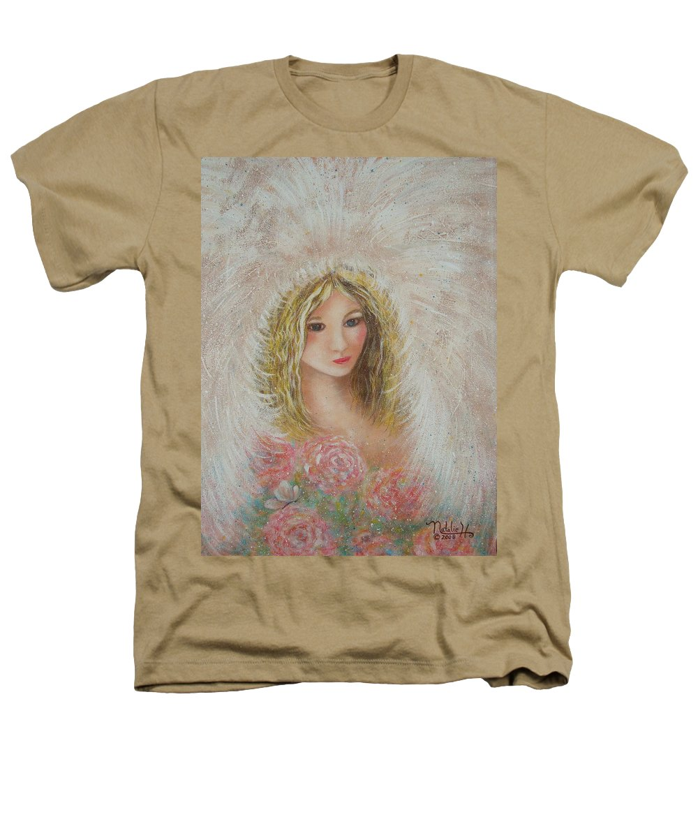 Angel Heathers T-Shirt featuring the painting Heavenly Angel by Natalie Holland