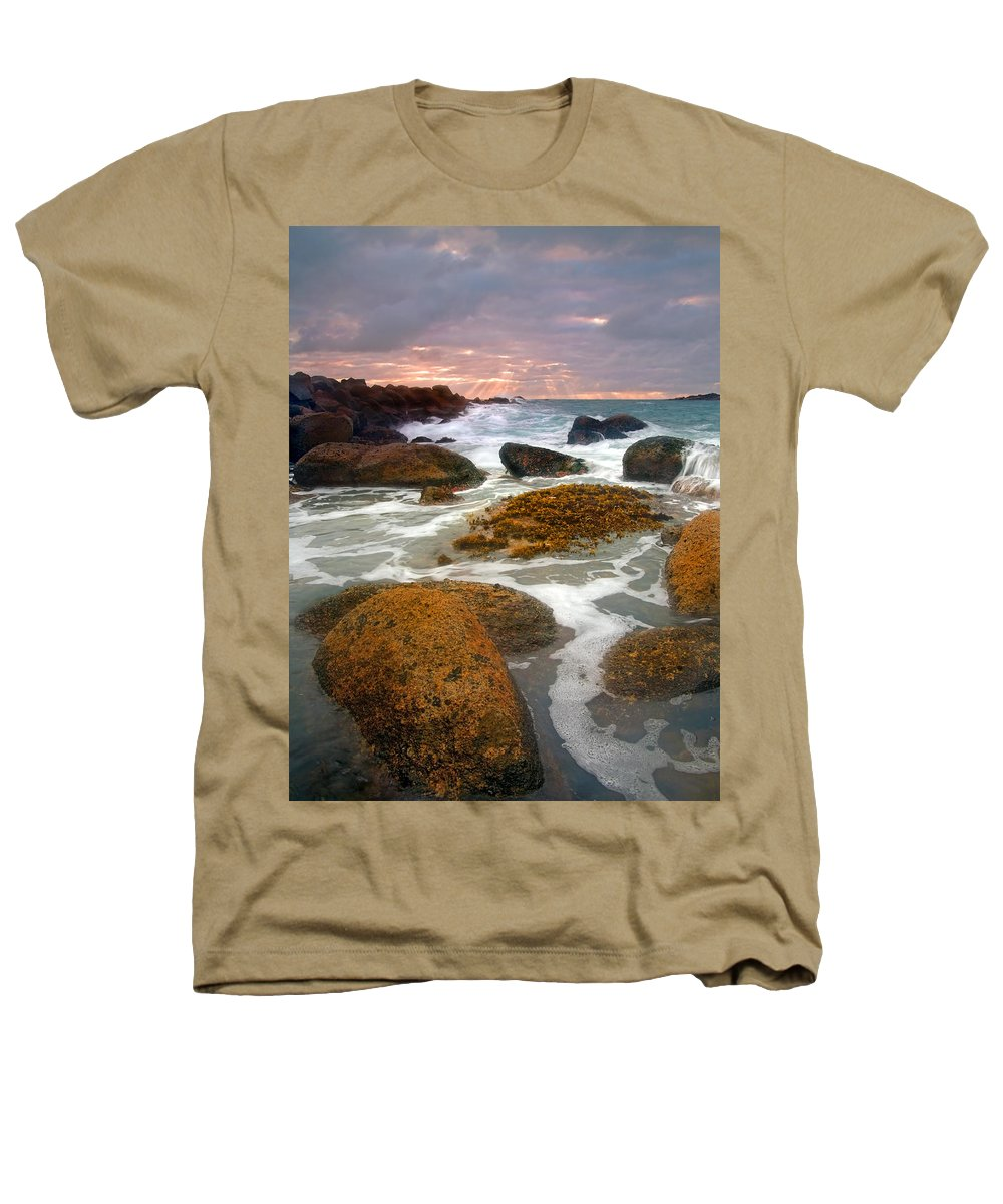 Sunrise Heathers T-Shirt featuring the photograph Heavenly Dawning by Mike Dawson