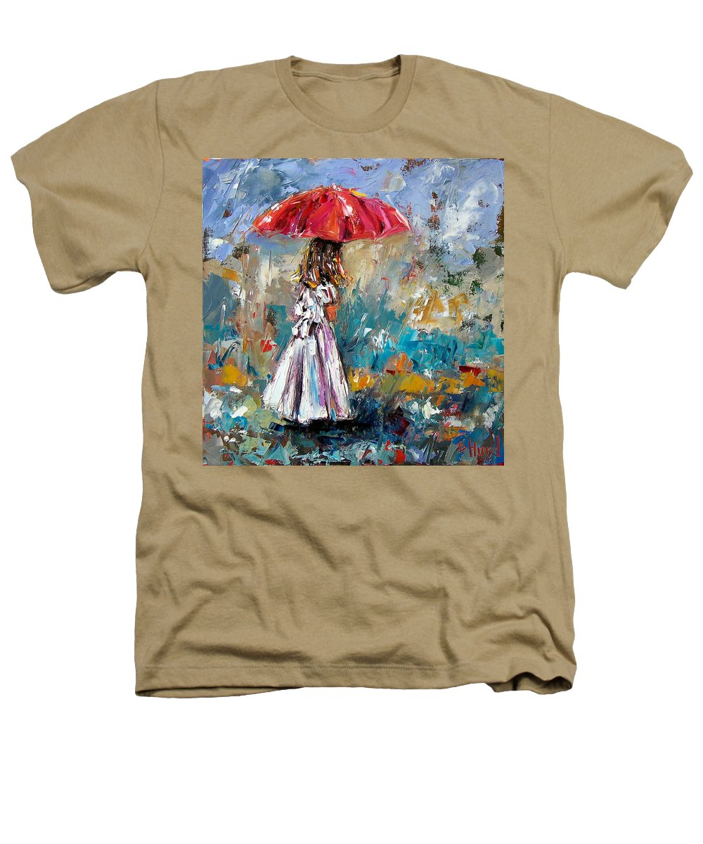 Children Art Heathers T-Shirt featuring the painting Her White Dress by Debra Hurd