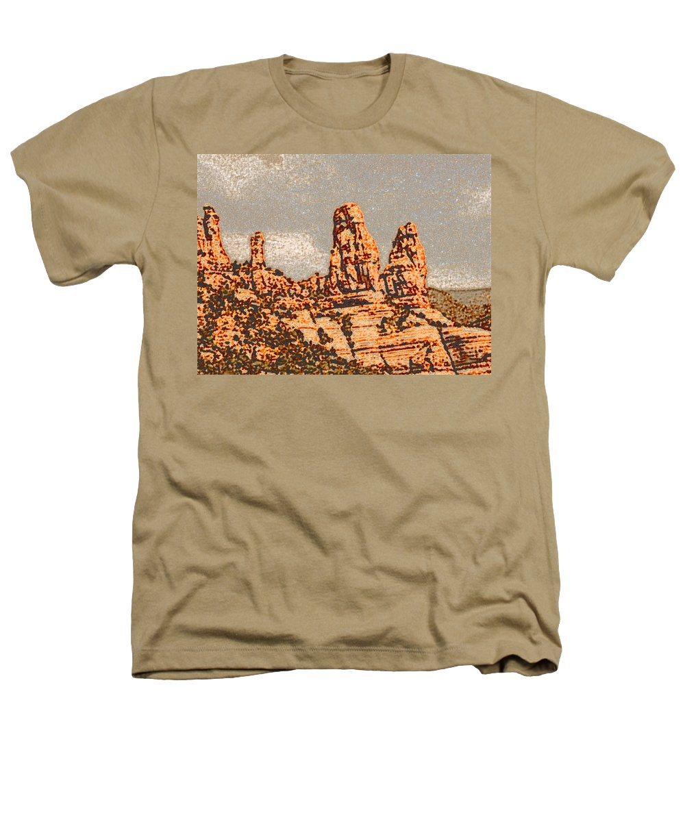 Altered Photography Heathers T-Shirt featuring the photograph Hills In Sedona by Wayne Potrafka