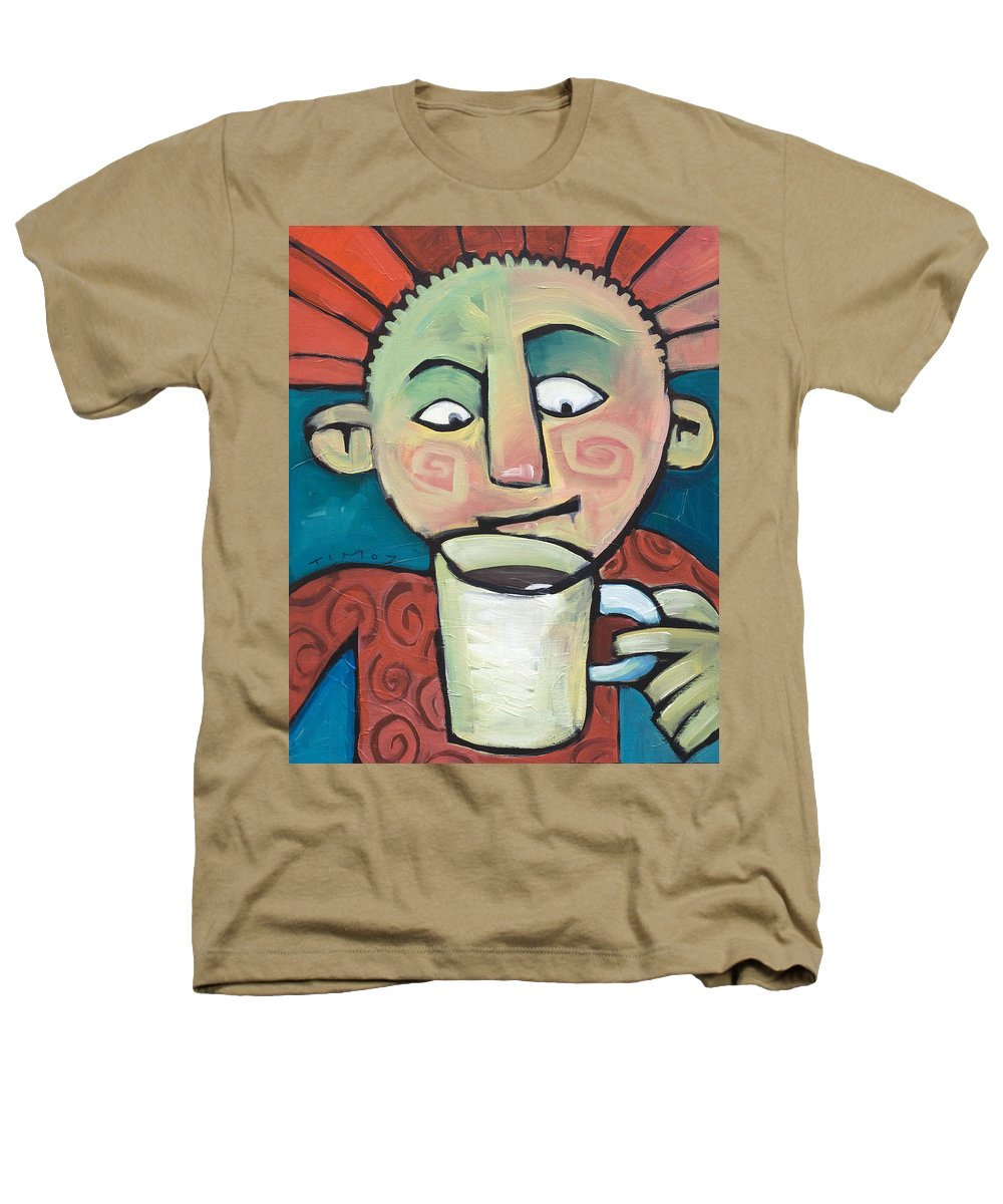 Smile Heathers T-Shirt featuring the painting His Coffee Spoke To Him by Tim Nyberg