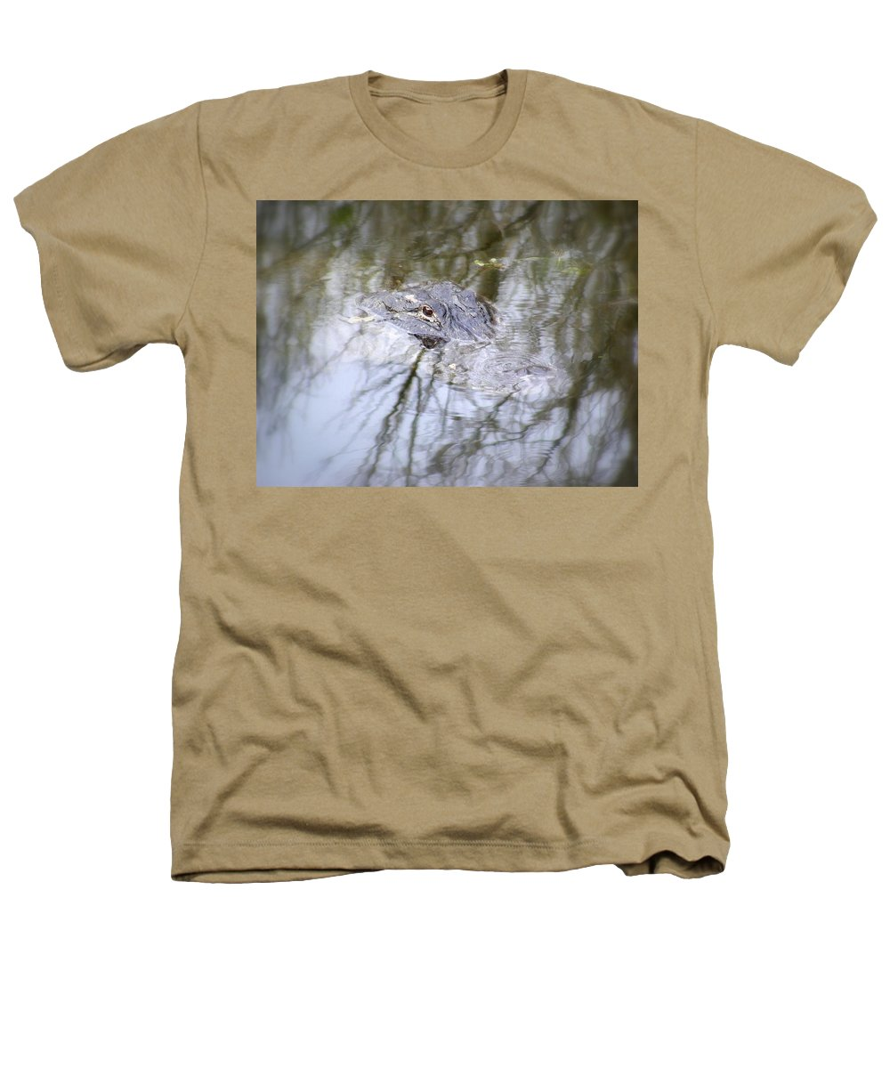 Alligator Heathers T-Shirt featuring the photograph I Am Watching by Ed Smith