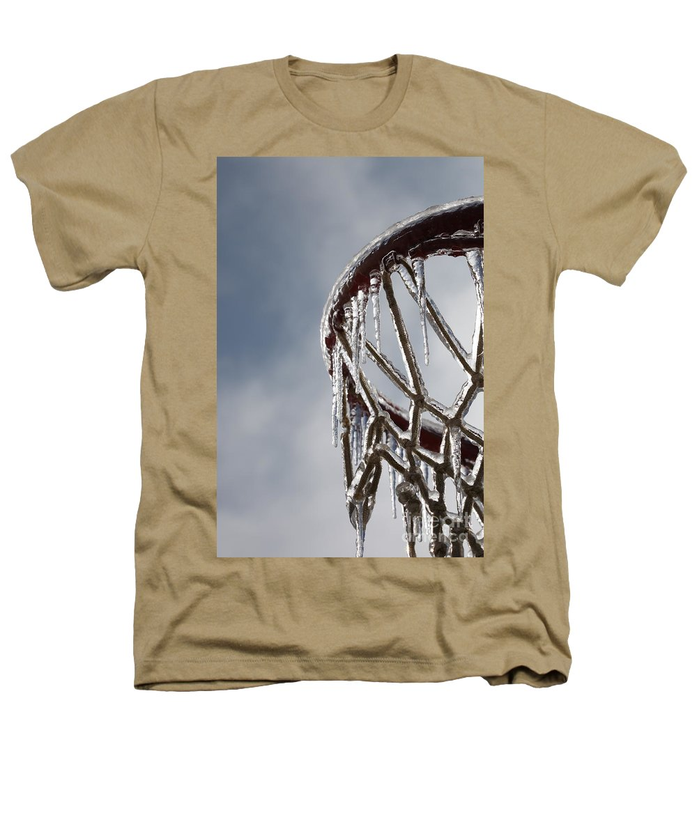Basketball Heathers T-Shirt featuring the photograph Icy Hoops by Nadine Rippelmeyer