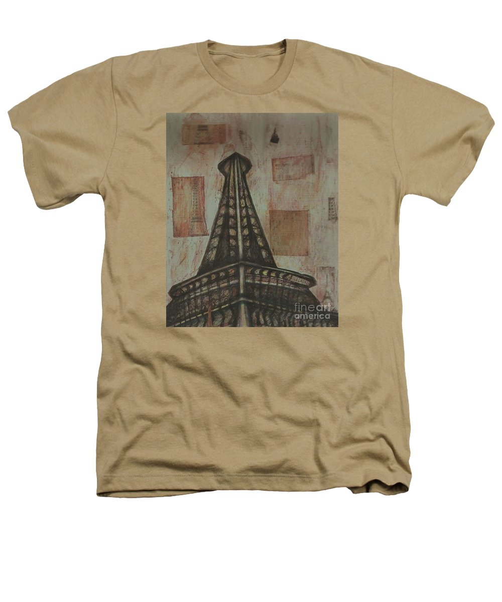 Structures Heathers T-Shirt featuring the painting Iffel Tower by Sidra Myers