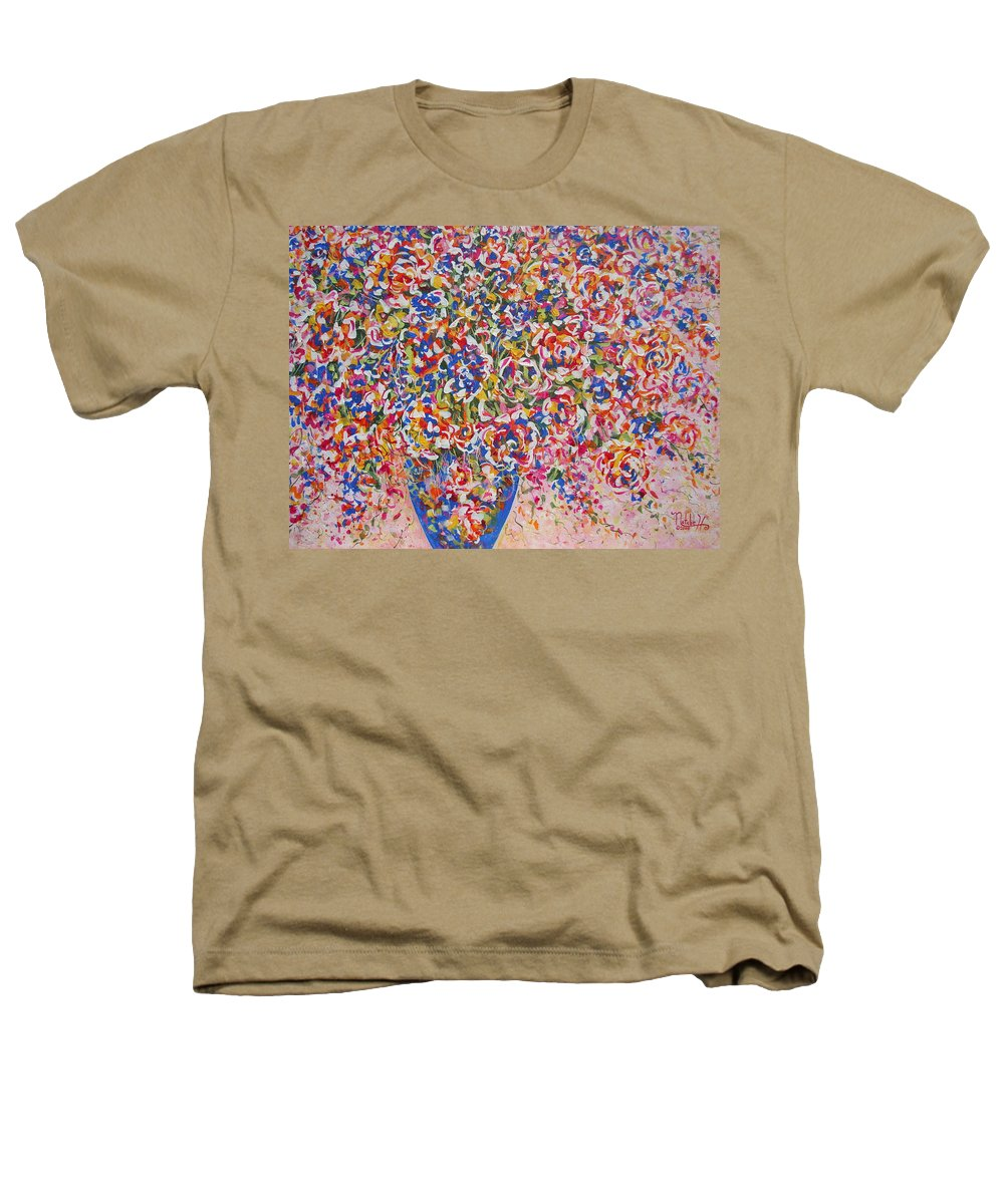 Flowers Heathers T-Shirt featuring the painting Illumination by Natalie Holland