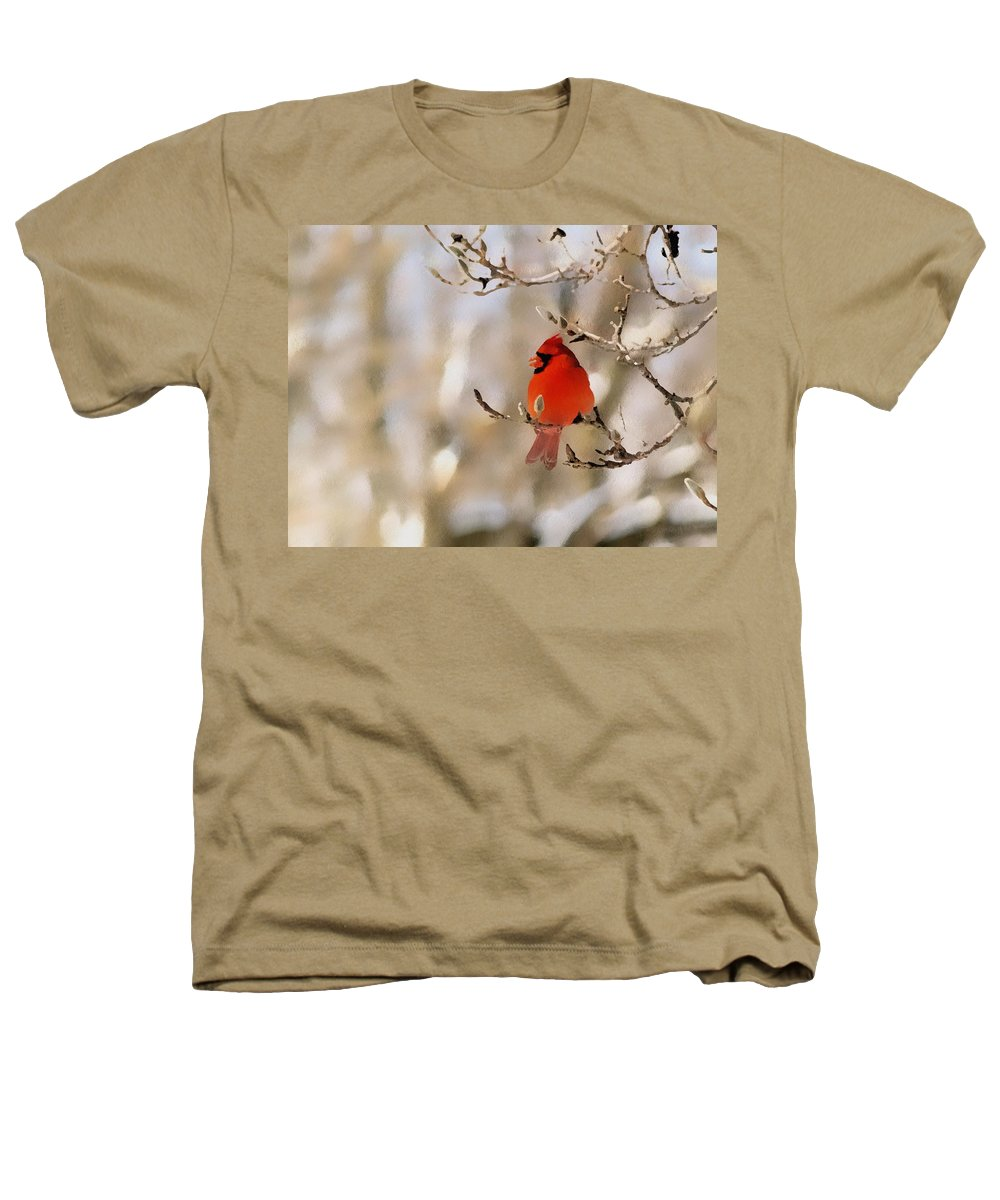 Cardinal Heathers T-Shirt featuring the photograph In Red by Gaby Swanson