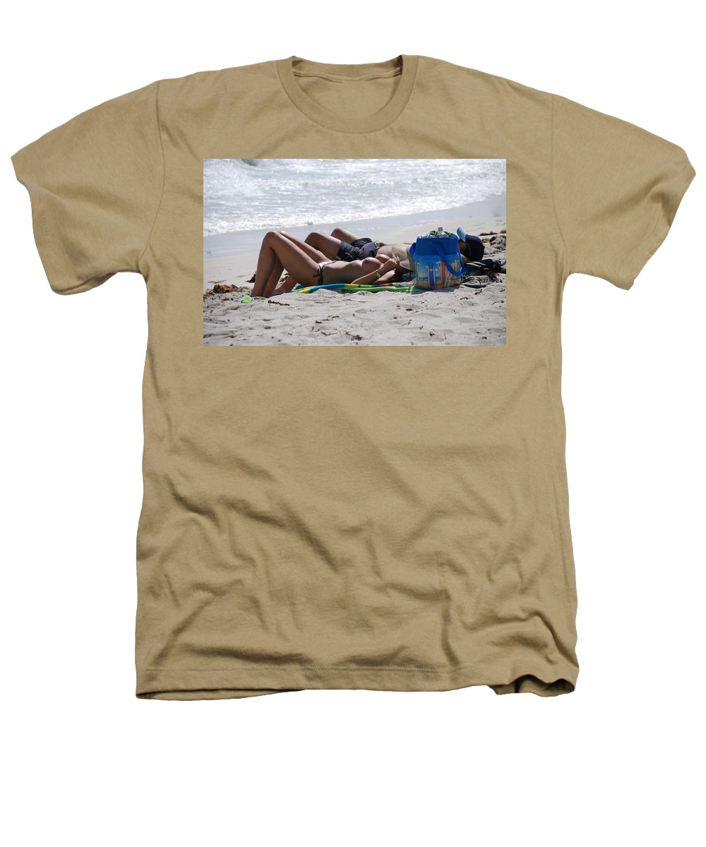 Nude Heathers T-Shirt featuring the photograph In The Sand At Paradise Beach by Rob Hans