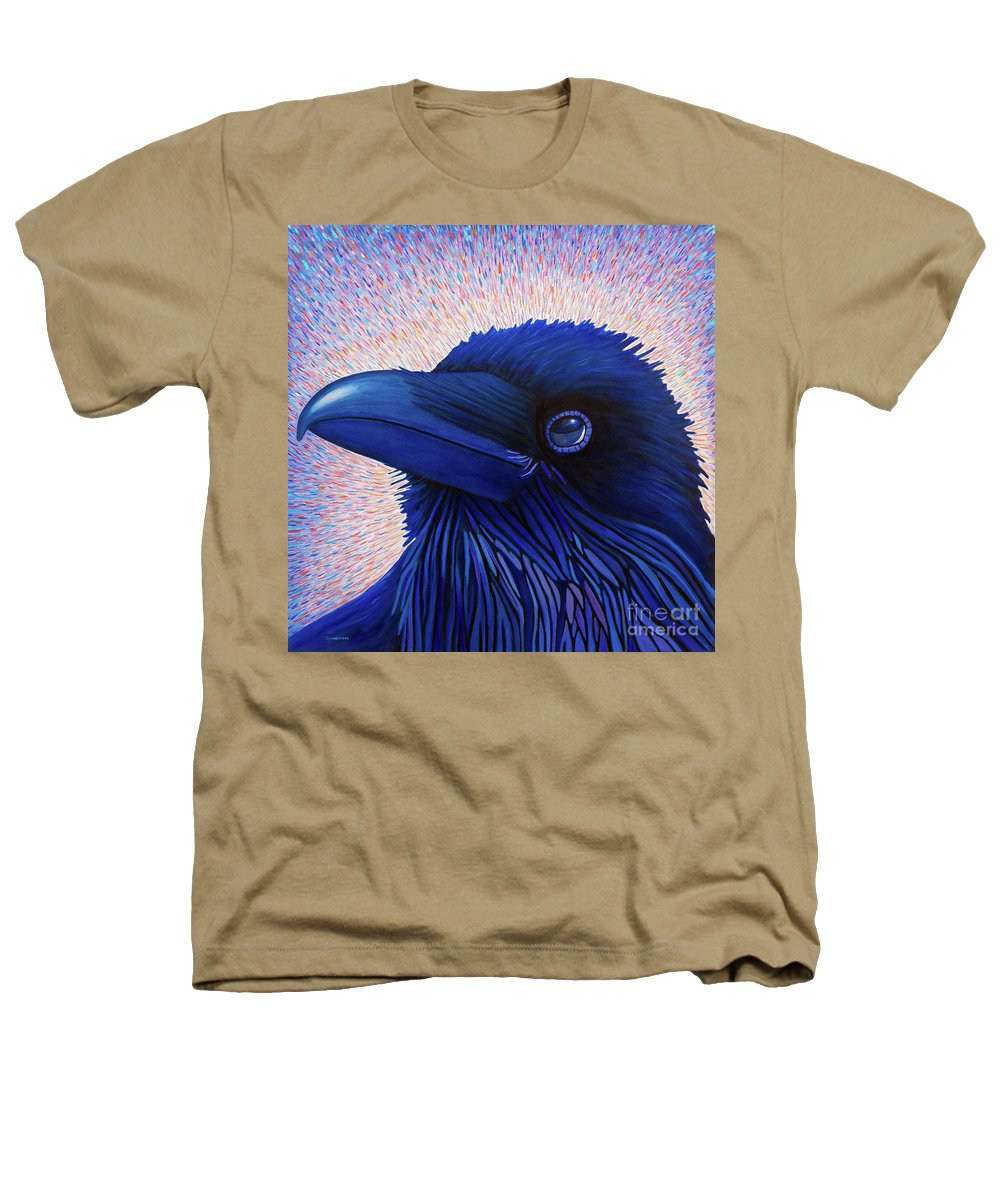 Raven Heathers T-Shirt featuring the painting Inspiration by Brian Commerford