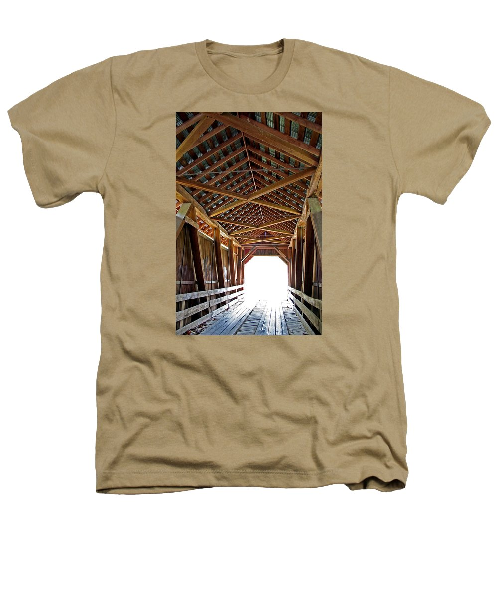 Light Heathers T-Shirt featuring the photograph Into The Light by Margie Wildblood