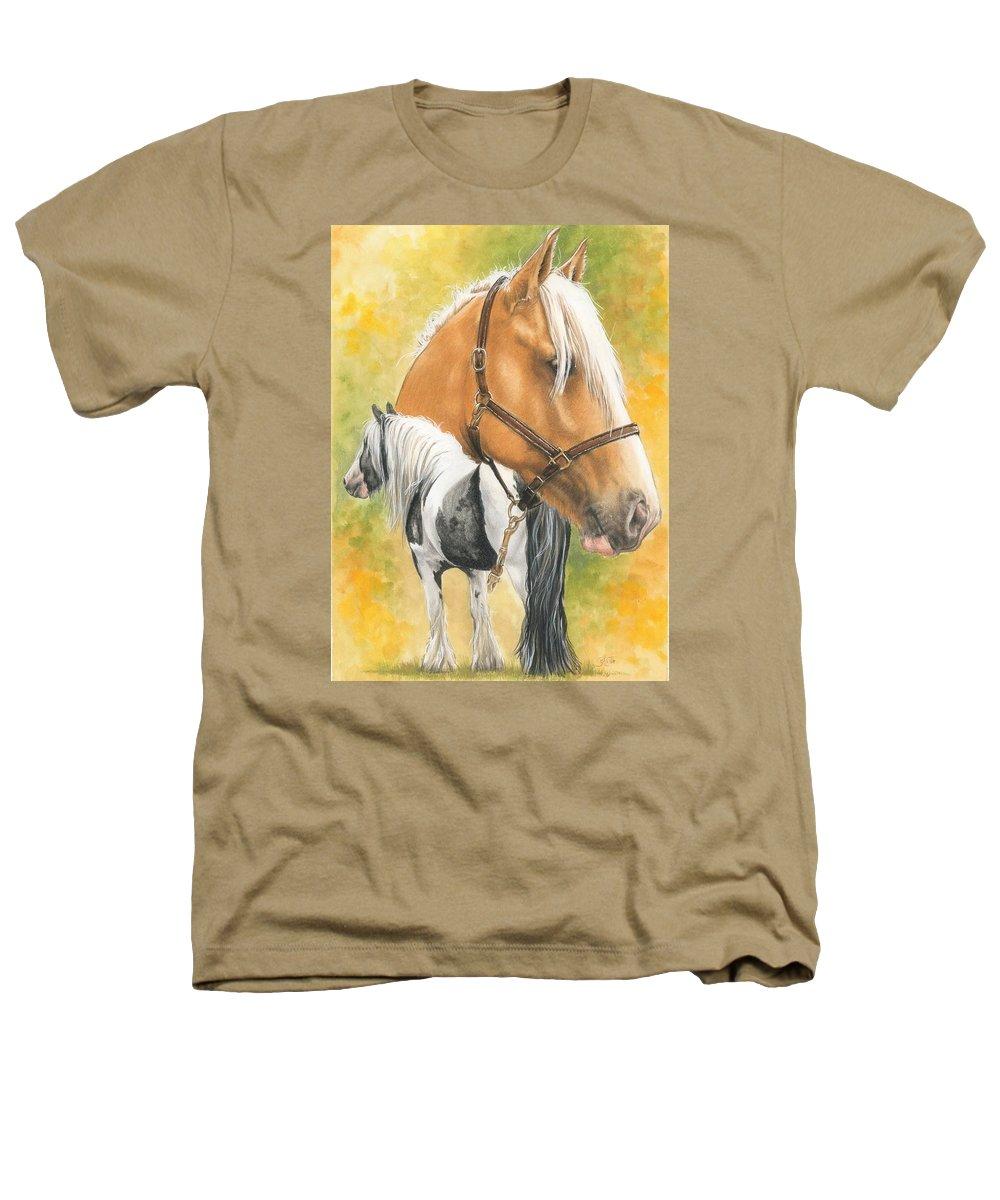 Draft Horse Heathers T-Shirt featuring the mixed media Irish Cob by Barbara Keith
