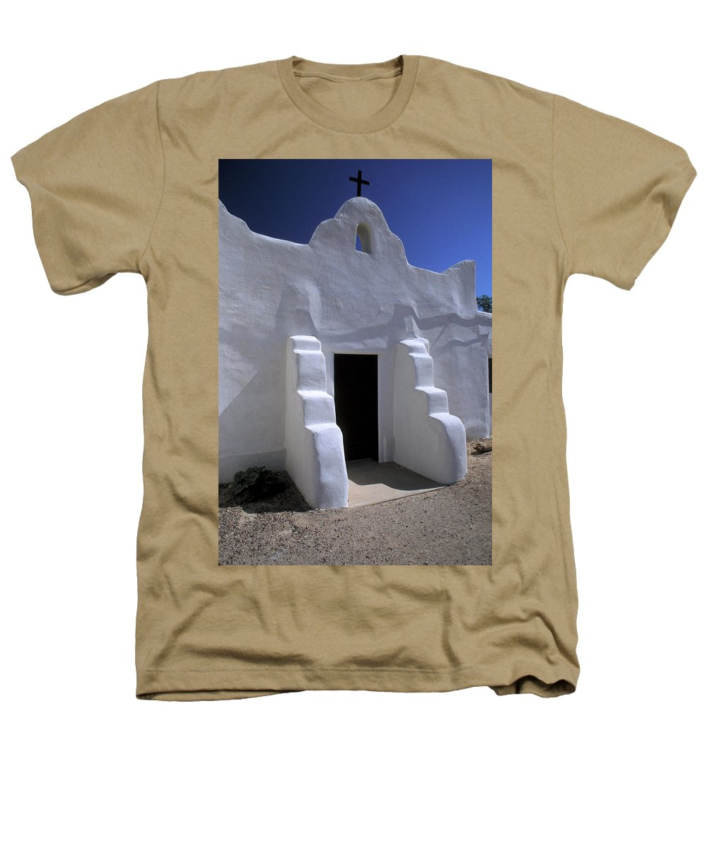 Adobe Heathers T-Shirt featuring the photograph Isleta by Jerry McElroy