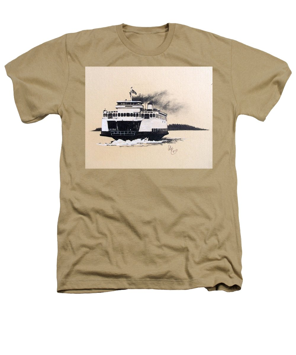 Ferry Heathers T-Shirt featuring the pastel Issaquah by Gale Cochran-Smith