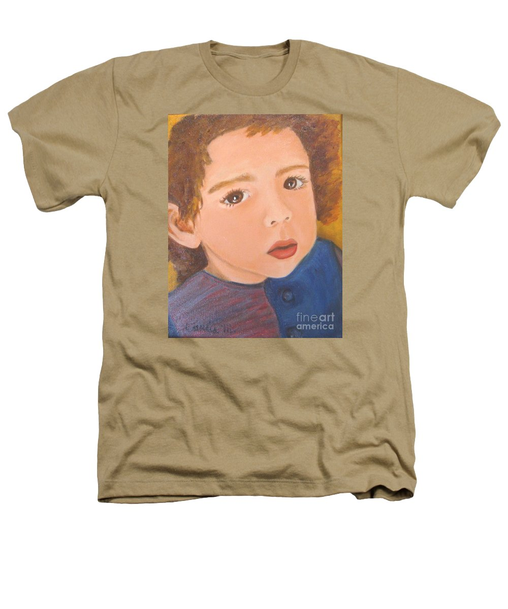 Portrait Heathers T-Shirt featuring the painting Jackson by Laurie Morgan