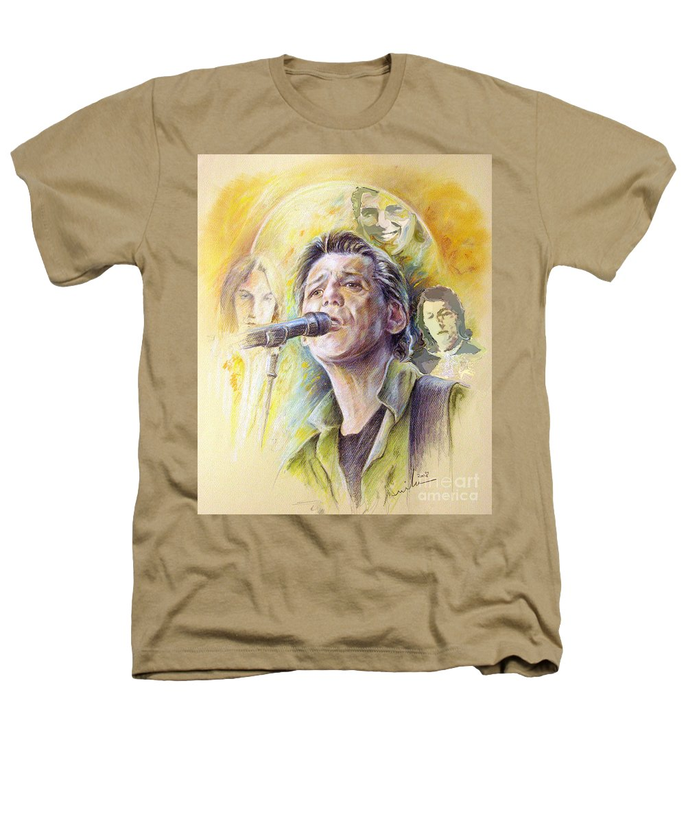 Jeff Christie Heathers T-Shirt featuring the painting Jeff Christie by Miki De Goodaboom