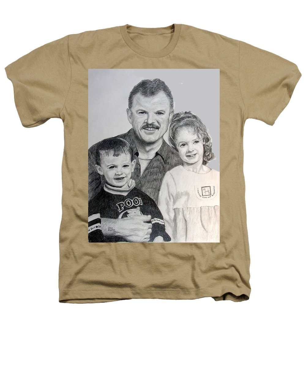 Portrait Heathers T-Shirt featuring the drawing John Megan And Joey by Stan Hamilton