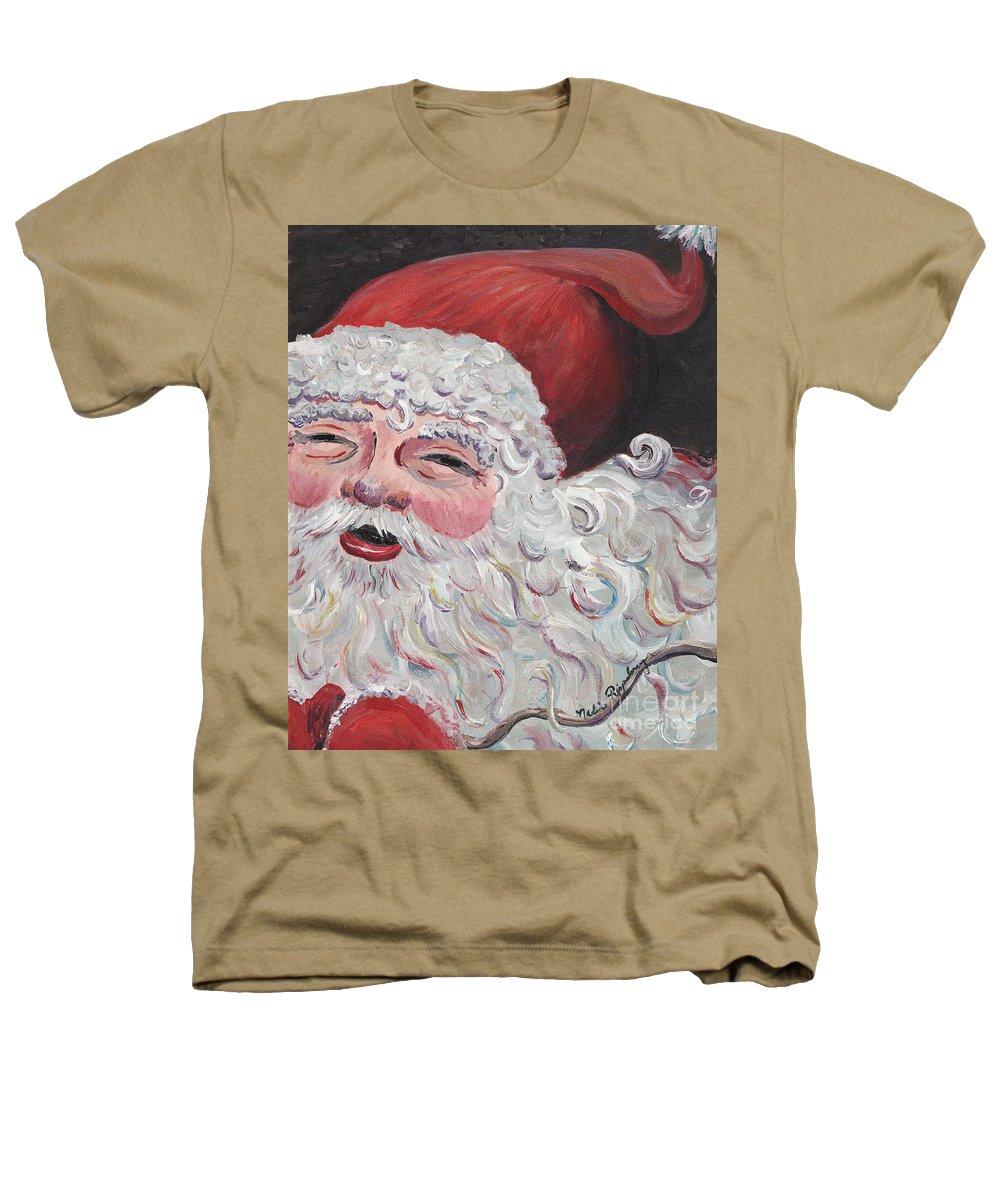 Santa Heathers T-Shirt featuring the painting Jolly Santa by Nadine Rippelmeyer
