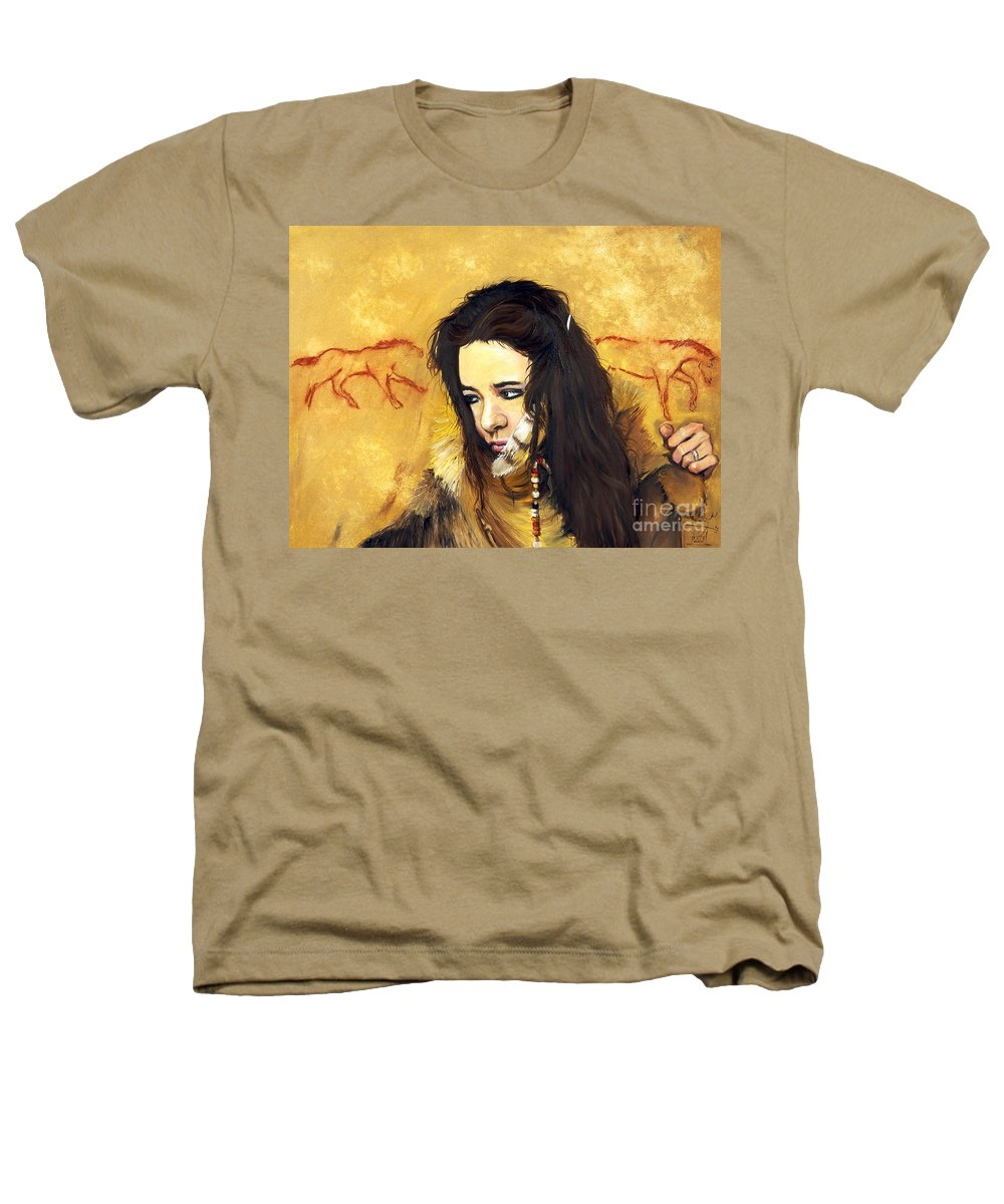 Southwest Art Heathers T-Shirt featuring the painting Journey by J W Baker
