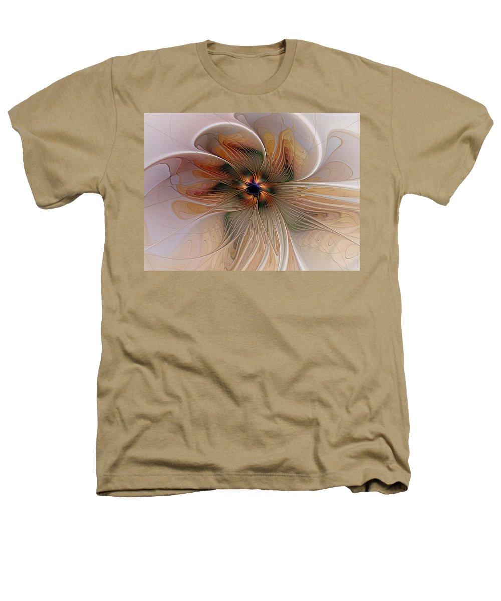 Digital Art Heathers T-Shirt featuring the digital art Just Peachy by Amanda Moore