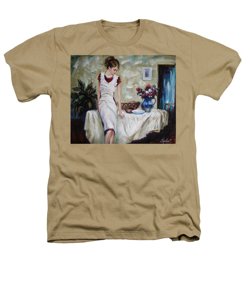 Figurative Heathers T-Shirt featuring the painting Just The Next Day by Sergey Ignatenko