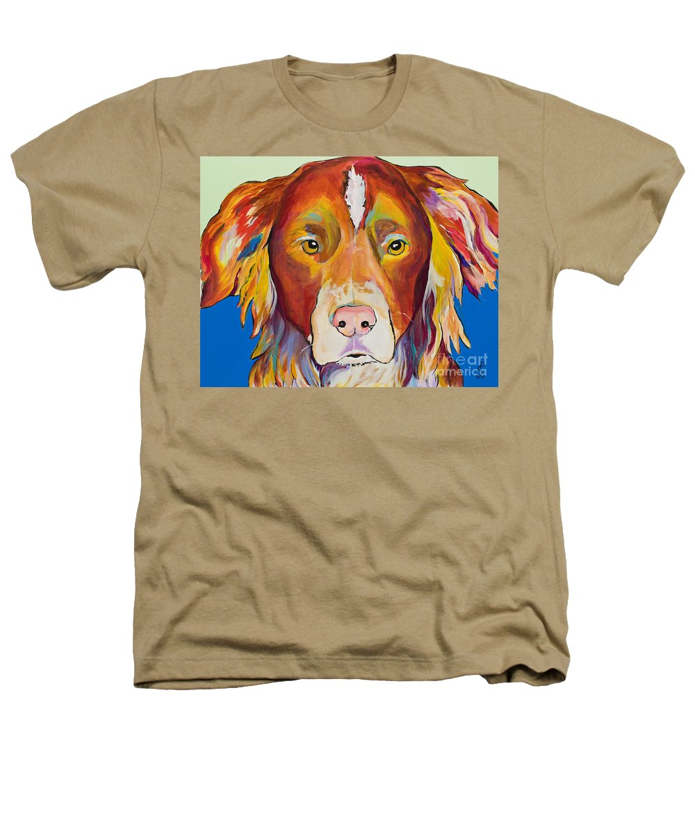 Australian Border Collie Heathers T-Shirt featuring the painting Keef by Pat Saunders-White