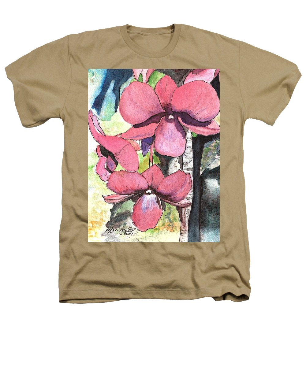 Orchid Heathers T-Shirt featuring the painting Kiahuna Orchids by Marionette Taboniar
