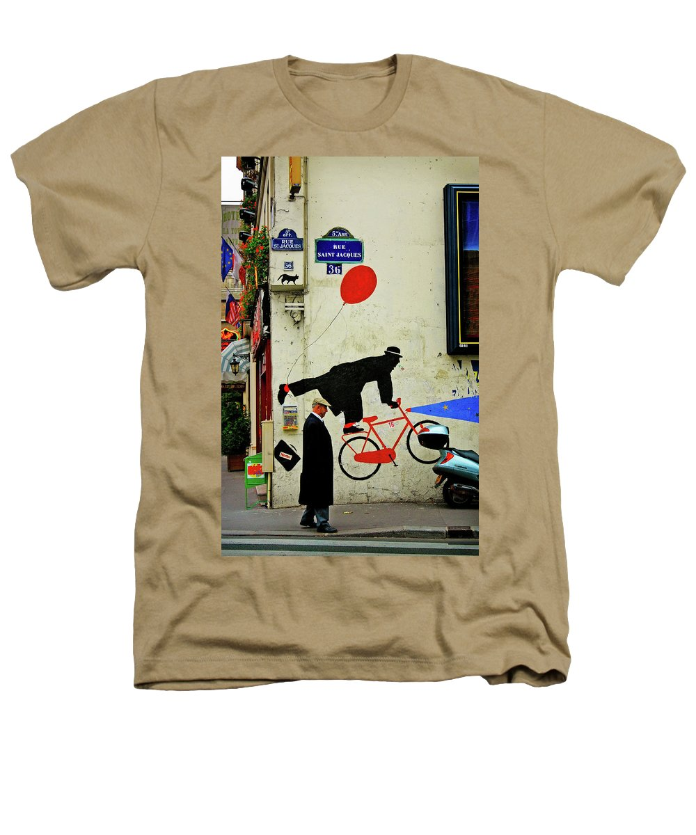 Paris Heathers T-Shirt featuring the photograph Kick In The Head by Skip Hunt