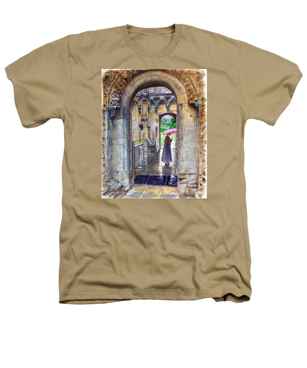 Glastonbury Heathers T-Shirt featuring the painting Lady Chapel by John D Benson