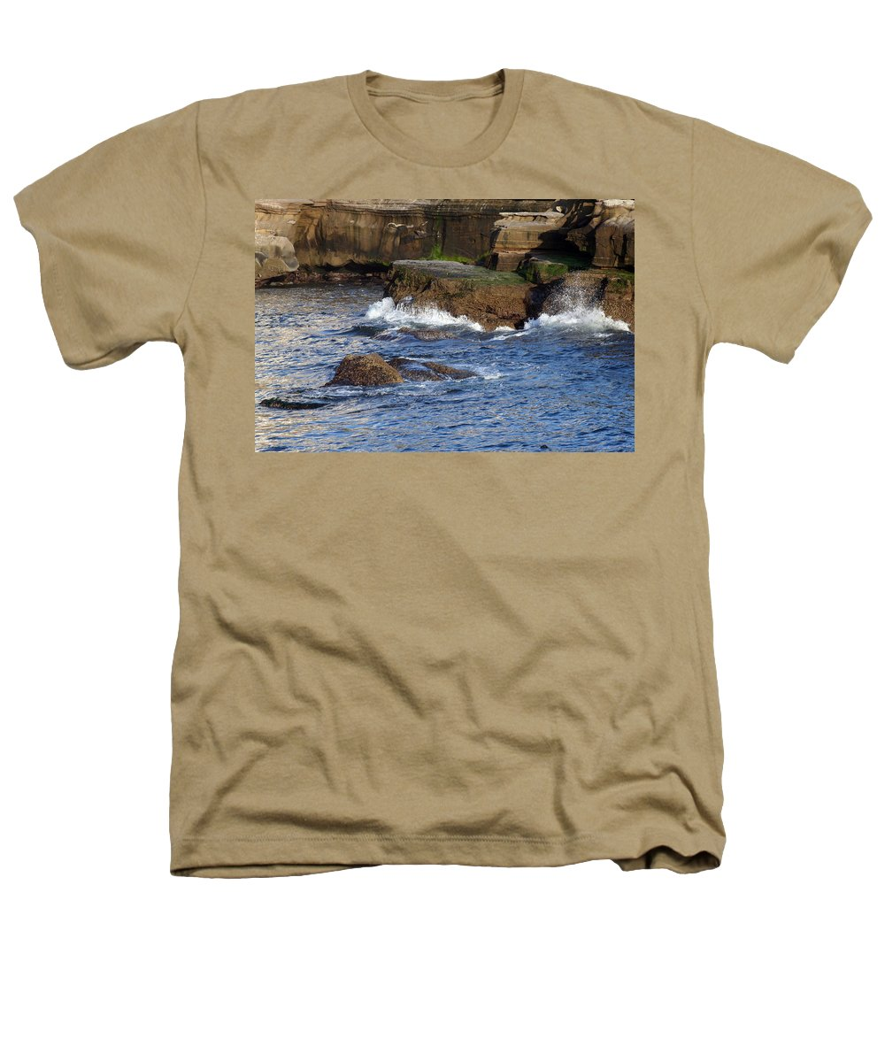 Ocean Heathers T-Shirt featuring the photograph Lajolla Rocks by Margie Wildblood