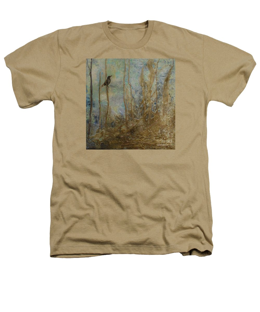 Bird Heathers T-Shirt featuring the painting Lawbird by Heather Hennick