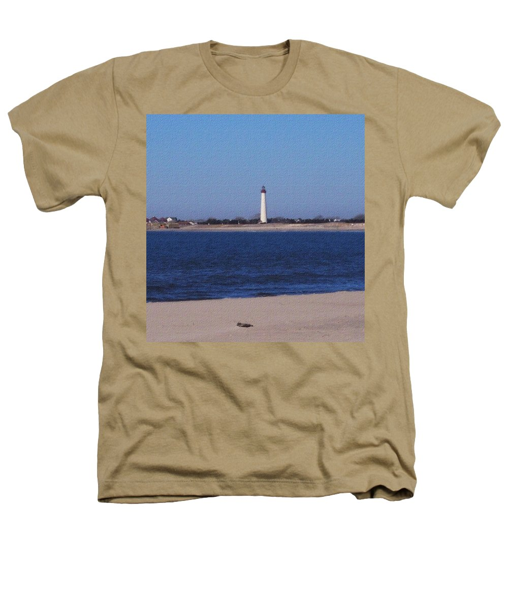 Lighthouse Heathers T-Shirt featuring the photograph Lighthouse At The Point by Pharris Art