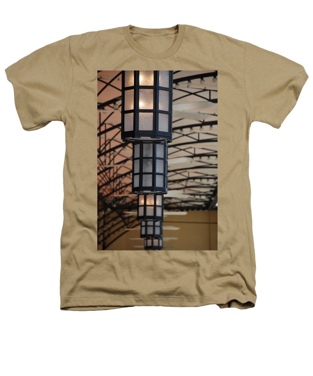 Architecture Heathers T-Shirt featuring the photograph Lights At City Place by Rob Hans