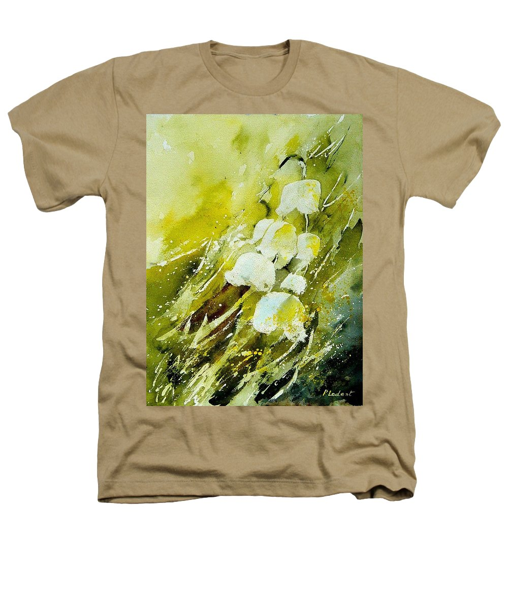 Flowers Heathers T-Shirt featuring the painting Lilly Of The Valley by Pol Ledent