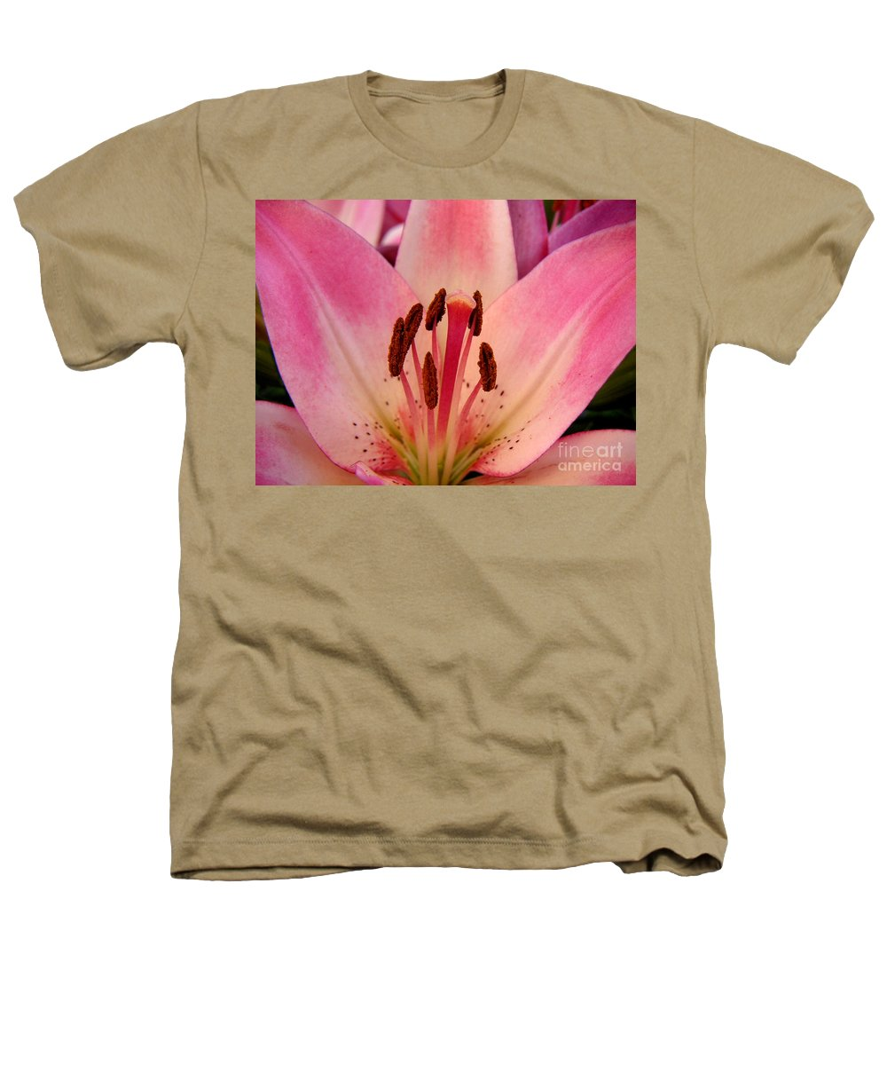 Nature Heathers T-Shirt featuring the photograph Lily - An Intimate View by Lucyna A M Green