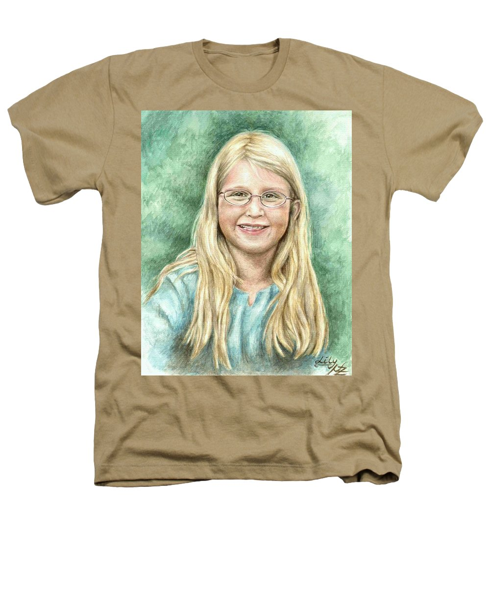 Girl Heathers T-Shirt featuring the painting Lily by Nicole Zeug