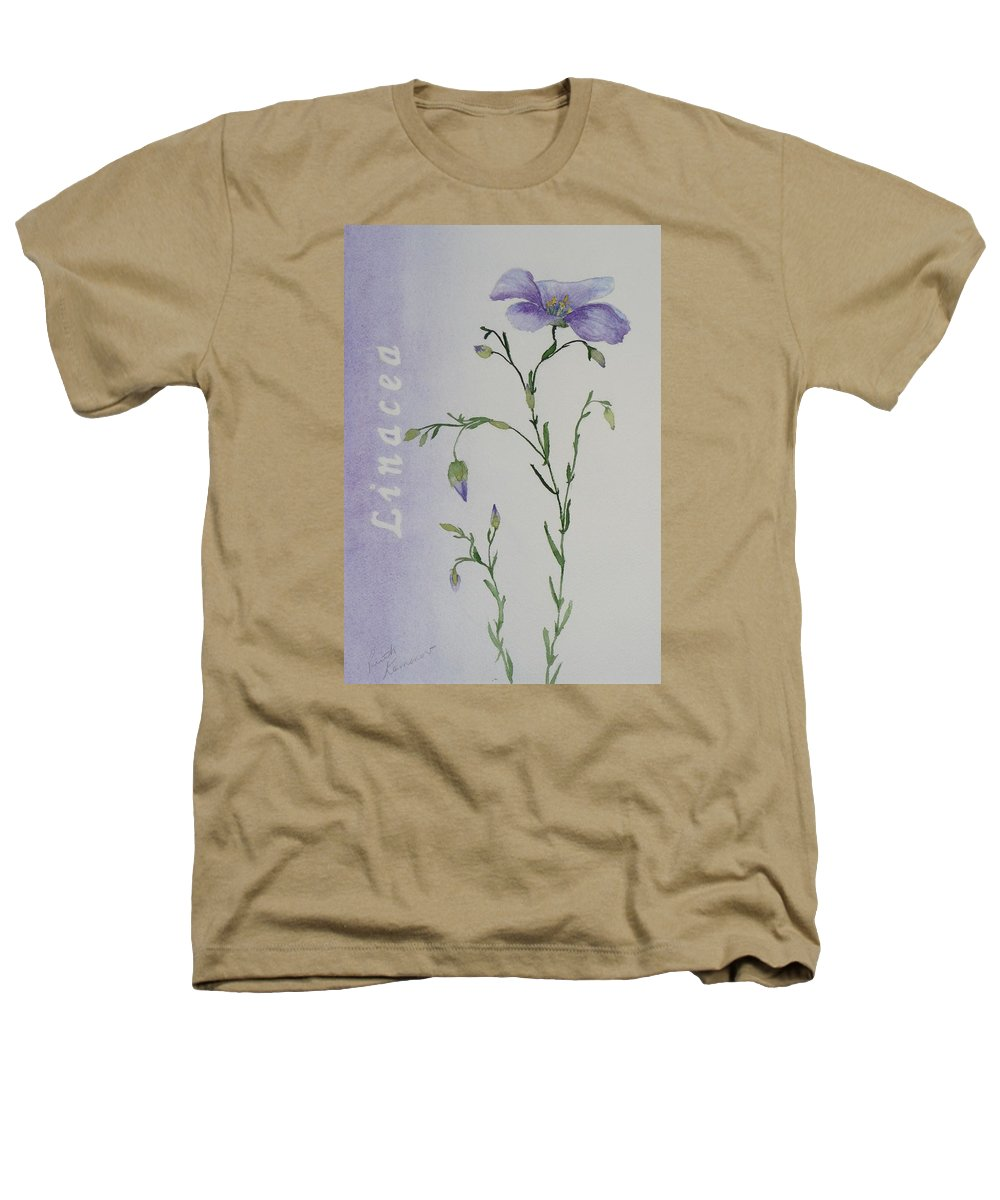 Flower Heathers T-Shirt featuring the painting Linacea by Ruth Kamenev