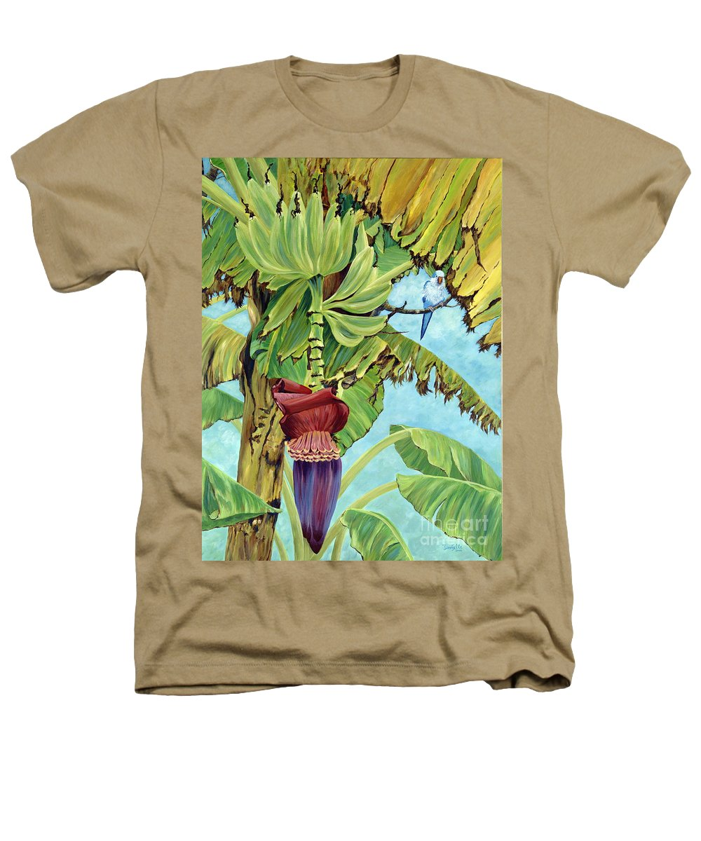 Tropical Heathers T-Shirt featuring the painting Little Blue Quaker by Danielle Perry