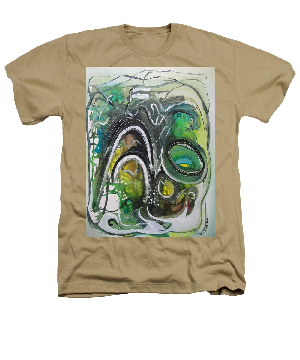 Abstract Paintings Heathers T-Shirt featuring the painting little impression on Alexander trail by Seon-Jeong Kim