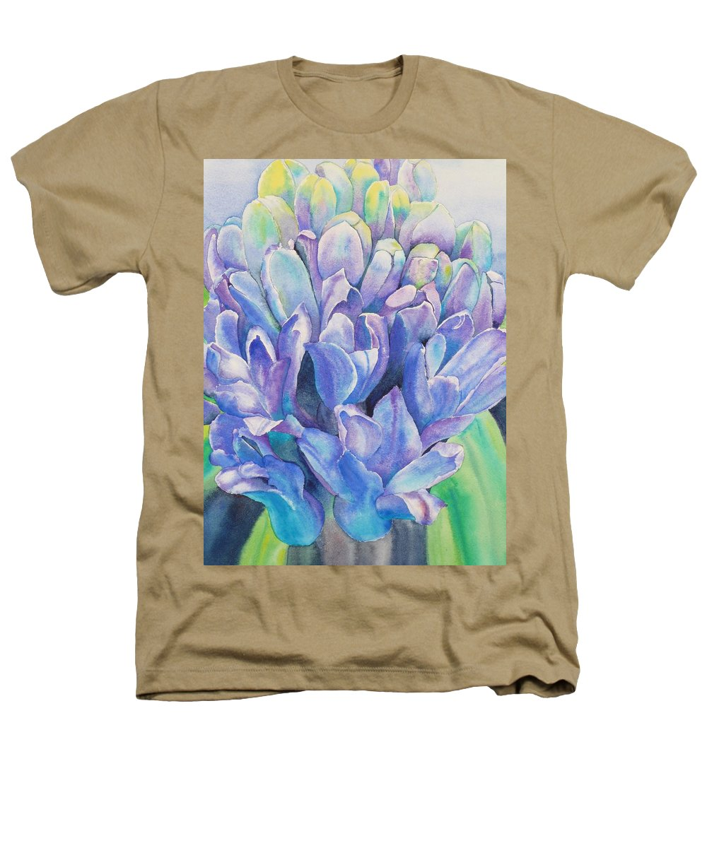 Flower Heathers T-Shirt featuring the painting Lovely Lupine by Ruth Kamenev
