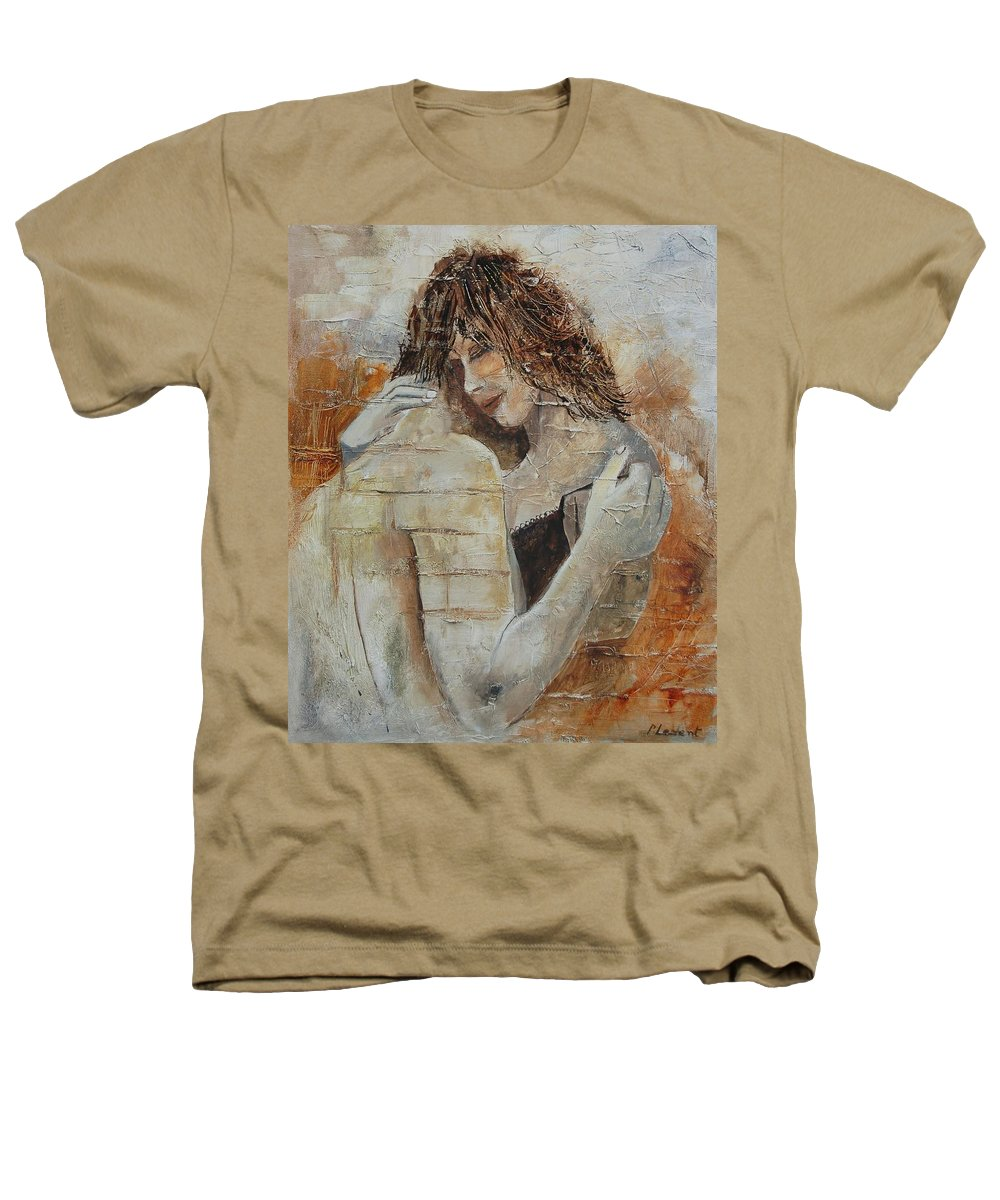 Girl Heathers T-Shirt featuring the painting Loving Couple by Pol Ledent
